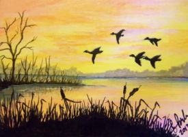 ACEO Duck Marsh by annieoakley64