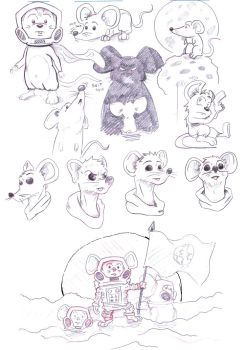 Mouses Day- sketches by FranzValentine