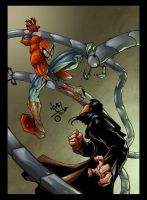 Spidey Vs. Ock by psychoheat