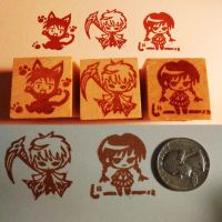 Kyoukai no Rinne Stamp Commission by CutiePoppers