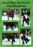 Maned Wolf Posable Doll by Eviecats