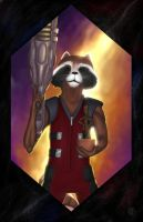 Rocket and baby Groot by halwilliams