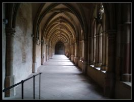 Trier Monestrary Hallway by Digger36