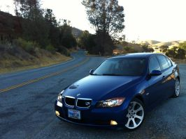 BMW 328i on California Highway 25 by Partywave
