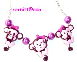 Three monkeys necklace by cernittando