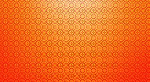 orange circle pattern backgrou by gos6