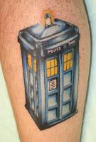 Doctor Who TARDIS tattoo by m1sfit