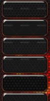 Dark Metal Textures by GrDezign