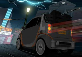 Back to the Future Smart Car 2 by calamitySi