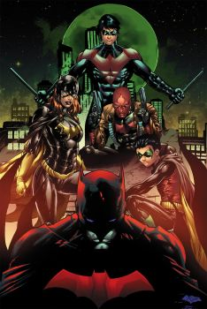 Bat Family Color Sample by Mike Stefan by mikestefan