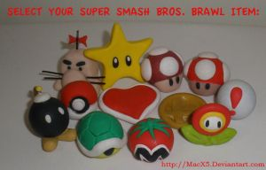 SuperSmashBrosBrawl Items by HeyLookASign