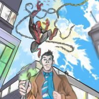 spiderman versus the tenth doctor by danny2069