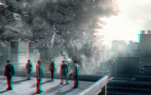 Inception poster 3-D conversion by MVRamsey
