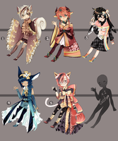 Adopts:: Random Kimonomimi batch CLOSED by Pandastrophic