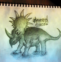 Styracosaurus by ehmed-anims