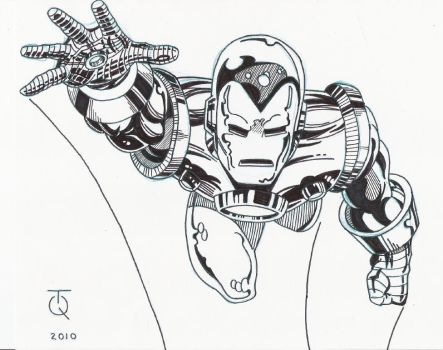 Classic Iron Man II INK by TyndallsQuest