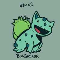 001 Bulbasaur by toadcroaker