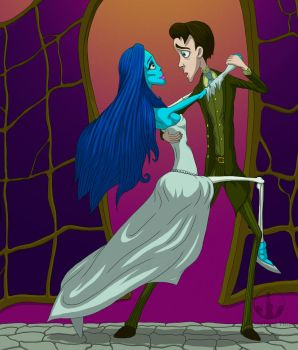 Victor and Emily Tango by CemeteryHillArt
