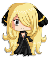 Pokemon: Chibi Cynthia by izka-197