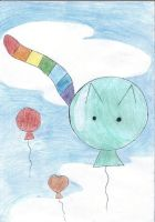 Balloon cat by kicja