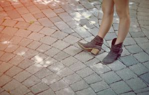Girl with Boots by MatthewsArt