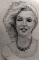 Norma Jean as Marilyn Monroe: Finished Work by SHParsons