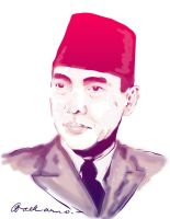Soekarno in Color by astayoga