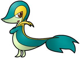 Shiny Snivy by Xstrawberry-queenX