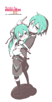 Miku and Mikuo. R e n d e r ~ by GumiisaurusRex