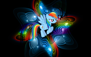 [Wallpaper} Rainbow Dash [MLP] by RicePoison