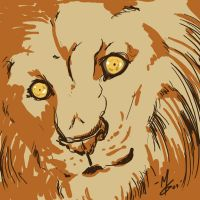 Lion Looking at You by Kipestshin