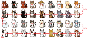 A string of cats (Find yours) by INfernoLynx