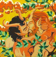 Satyrs at Beltane by Dharmajon