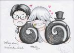 William and Undertaker snails-Request by TheUndertakersKitty