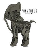 Ponytheus (Prometheus crossover) by ItsJustRED