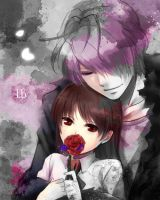 Ib and Garry: Violet Rose by Pewdie2pHetalia
