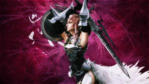 Lightning FF13-2 Wallpaper by LogiSpaz