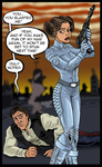 Leia and Han by ZZoMBiEXIII
