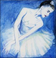The blue balletdancer by cissy