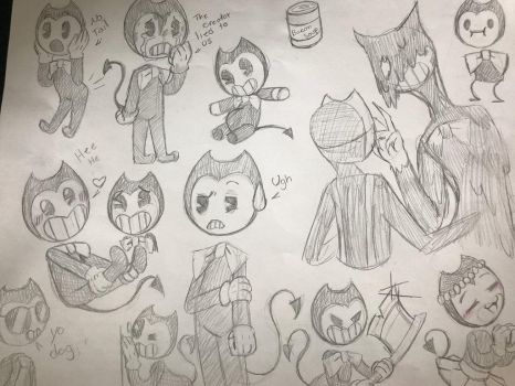 Bendy and the ink machine sketches  by noxtimore-tbs