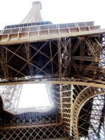 Eiffel Tower from the bottom by Natiaaa