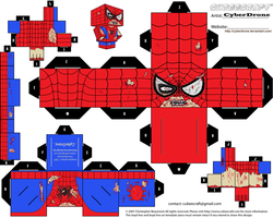 Cubee - Zombie Spider-Man by CyberDrone