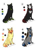 Wolf Adoptables by Abellia