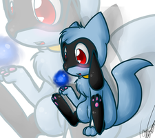 riolu chibi by Freeze-pop88