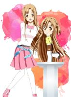 .: Asuna and Her Chibi :. by Sincity2100