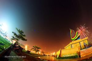 Fireworks In Fisheye 3 by perigunawan