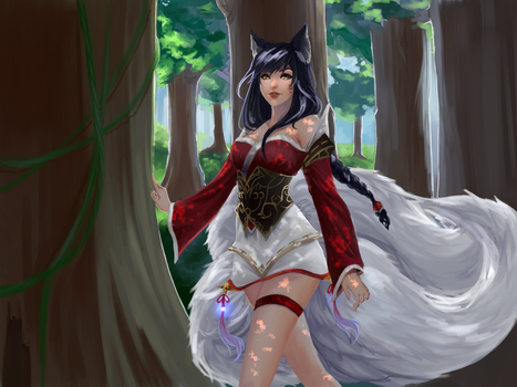 Ahri - League of Legends by lypotatoes