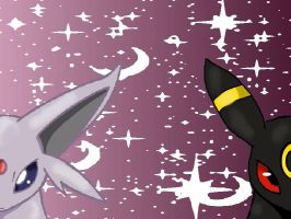 Umbreon vs Espeon by Umbreon06
