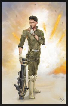 Soldier with Attitude by devBabar