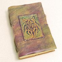 WOLF, leather journal. by gildbookbinders